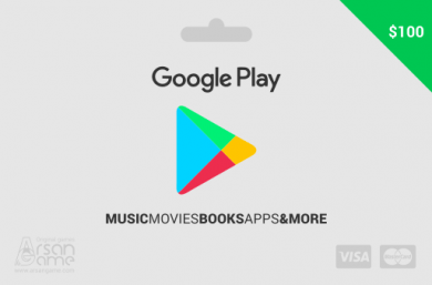 گیفت کارت گوگل پلی 100 دلاری آمریکا