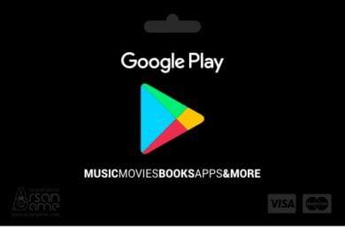 گیفت کارت گوگل پلی 10 دلاری آمریکا