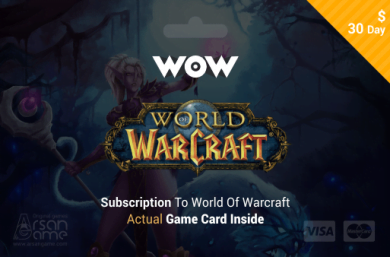 World of Warcraft - 30 days Time Card Prepaid US