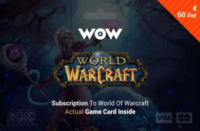 World of Warcraft - 60 days Time Card Prepaid EU