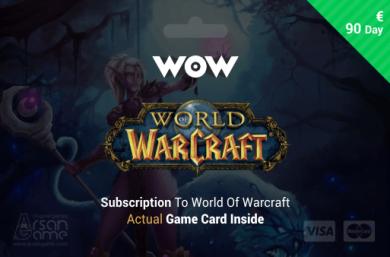 World of Warcraft - 90 days Time Card Prepaid EU
