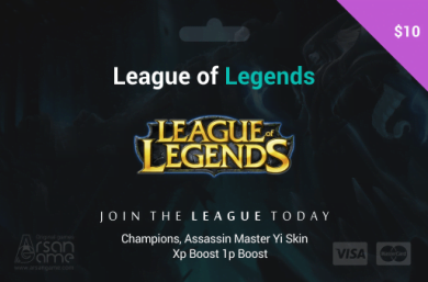 League of Legends 10$ USA