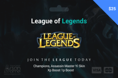 League of Legends 25$ USA
