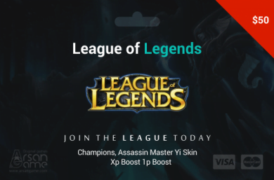 League of Legends 50$ USA