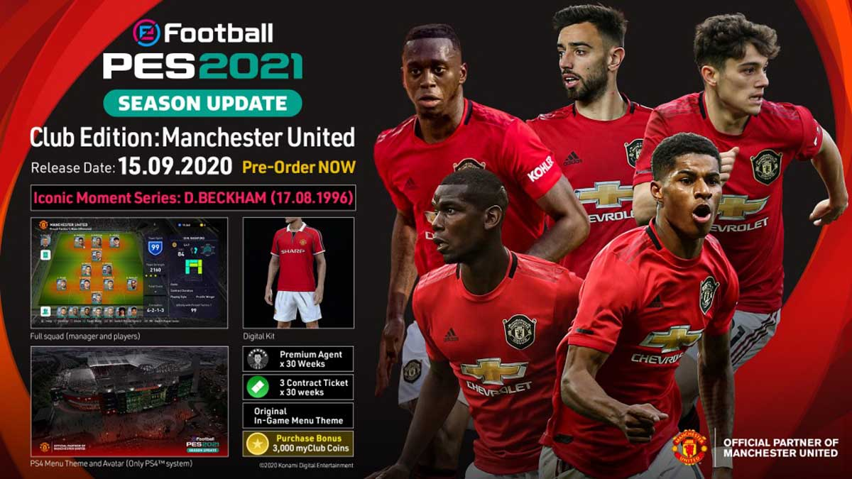 eFootball PES 2021 MANCHESTER RU Steam CD Key