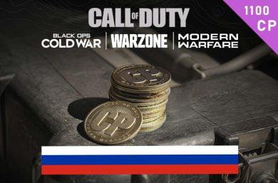 Warzone Points RU 1,000 (+100 Bonus) CP